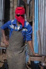 Eritrea - Portrait-Series: Welders with DIY face shields