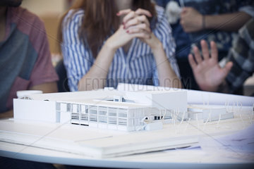 Model building in architecture office