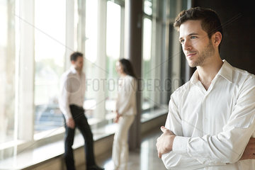 Young man contemplating career opportunities