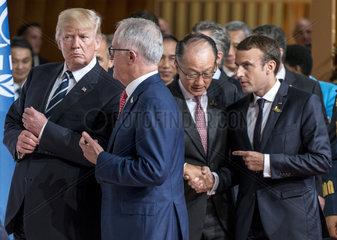 Trump + Turnbull + Yong Kim + Macron