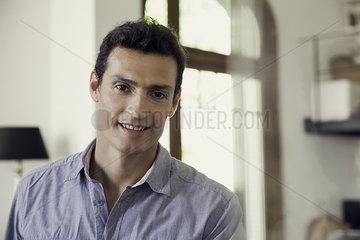 Mature man smiling  portrait