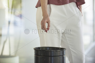 Woman on a cigarette break  cropped