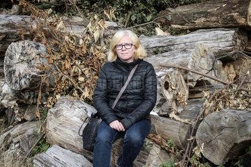 Sakine Esen Yilmaz  aus der Tuerkei gefluechtete Generalsekretaerin der tuerkischen Bildungsgewerkschaft Egetim Sen