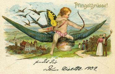 Pfingstgruesse  Postkarte  1902