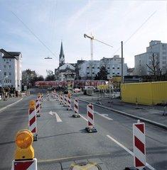 Umleitung in der Liebig-Strasse