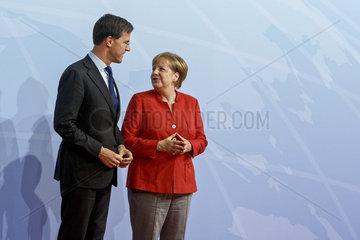 Mark Rutte  Premierminister Niederlande und Angela Merkel (CDU)  Bundeskanzlerin
