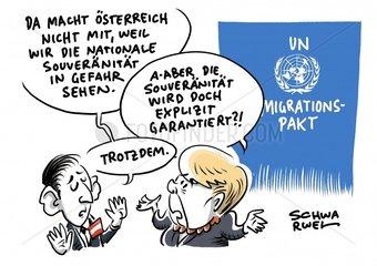 Vereinte Nationen : Oesterreich sagt Nein zum UN-Migrationspakt