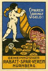 Rabattsparverein Nuernberg  Werbemarke  1913