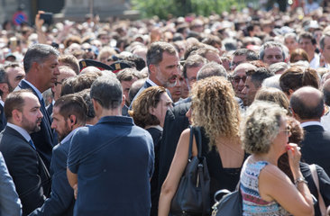 SPAIN-BARCELONA-TERROR ATTACKS-MOURNING