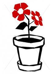 Blumentopf Blume Topfpflanze Vignette Zimmerpflanze Pflanze