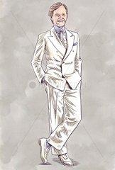 Tom Wolfe weisser Anzug 1