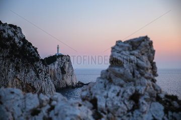 GREECE-LEFKADA ISLAND-LIGHTHOUSE