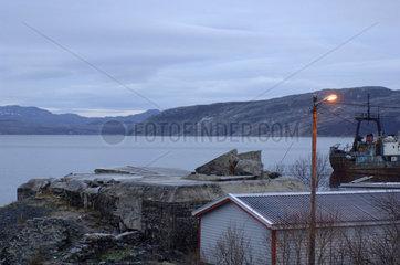 Stadtansicht von Kirkenes (Norwegen)