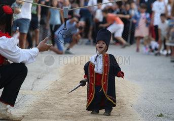 CROATIA-VUCKOVICI-CHILDREN'S ALKA TOURNAMENT