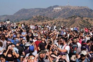 U.S.-LOS ANGELES-SOLAR ECLIPSE