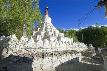 Stupa in Leh  Indus Tal  Ladakh  Jammu und Kaschmir  Indien