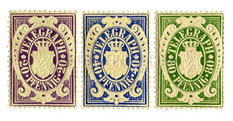 Kgl. Bayerische Telegraphen-Marken  1876