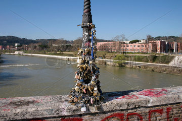 Rome - i love you forever. love and lock at Ponte Milvio