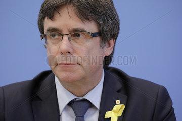 Carles Puigdemont - Bundespressekonferenz zum Thema: Einschaetzung der aktuellen juristischen und politischen Lage