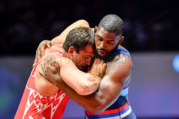 (SP)FRANCE-PARIS-WRESTLING-WORLD CHAMPIONSHIPS-GREECE ROMAN-130KG