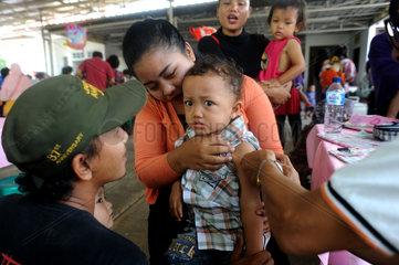 INDONESIA-SOUTH TANGERANG-MEASLES AND RUBELLA-IMMUNIZATION