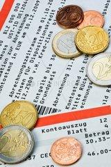 Kontoauszug mit Kostenaufstellung fuer Kontogebuehren