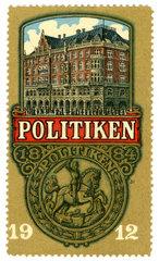 Politiken  daenische Tageszeitung  Werbemarke  1912