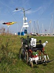 Mobile Therapiestation im Helgolaender Hafen  Schleswig Holstein  Deutschland