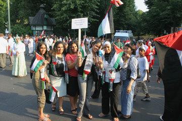 Demonstration gegen die Israelische Kriegshandlung in Libanon und Gaza