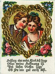 Liebespaar  Liebesgedicht  Illustration  1895