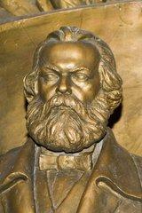 Karl Marx und Friedrich Engels im Nationalmuseum von Bishkek  Kyrgyzstan