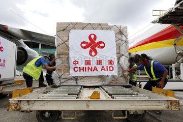 MYANMAR-YANGON-CHINA-EMERGENCY AID-SWINE FLU PREVENTION