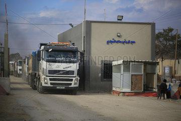 MIDEAST-GAZA-KEREM SHALOM CROSSING-REOPEN