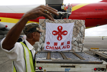 MYANMAR-YANGON-CHINA-EMERGENCY AID-SWINE FLU PREVENTION