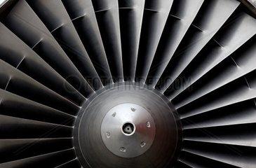 Turbine eines Passagier Jets