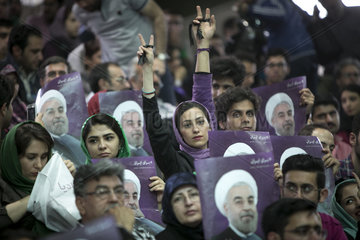 IRAN-TEHRAN-PRESIDENTIAL ELECTION-ROUHANI-CAMPAIGN RALLY