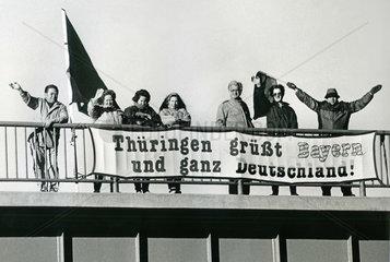 Reisefreiheit fuer Westdeutsche in die DDR  1989