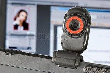 Webcam auf Monitor
