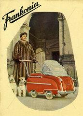 Werbung fuer Frankonia Kinderwagen  1953