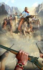 Westernszene Indianer Kampf
