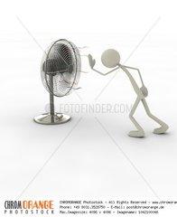 Figur mit Ventilator