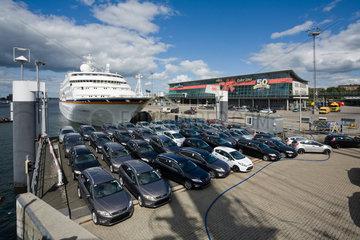Kiel  Deutschland  Blick auf den Norwegenterminal  Kieler Woche