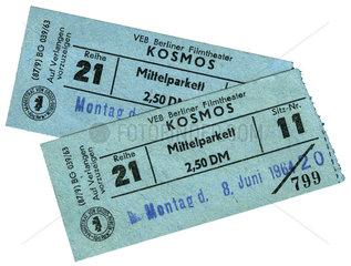 2 DDR-Kinokarten von 1964