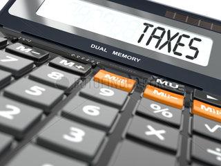 Concept of taxes calculation  Calculator