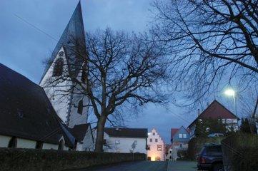 Dorf am Abend