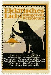 Werbung fuer elektrisches Licht  1913