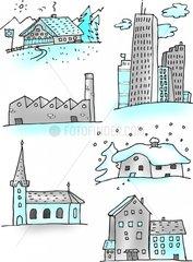 Verschiedene Bauten