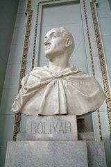 Havanna  Kuba  Bueste des Unabhaengigkeitskaempfers Simon Bolivar im Museo de la Revolucion