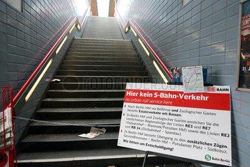 Berlin  Deutschland  kein S-Bahn-Verkehr