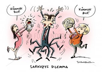Frankreichs Premier Sarkozy steht in Euro-Frage unter Hochdruck